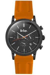 Men's Resin Band Watch - LC06545, orange, black, black