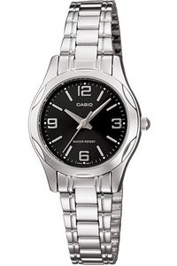 Women's Stainless Steel Band Watch - LTP-1257, black, silver, silver