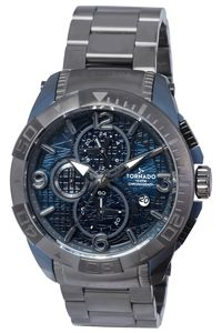 Tornado Men's Watch Chronograph Display-T8100-XLBXL, gun metal, black
