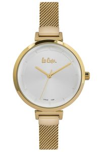 Women's Super Metal Band Watch - LC06558, gold, gold, silver