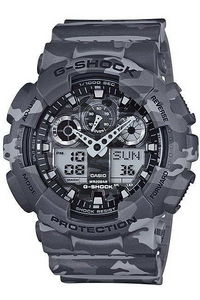 G-shock Men's Resin Band Watch GA-100CM-8A, camouflage/grey, camouflage/grey, camouflage/grey