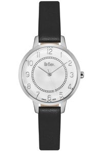 Women's Leather Band Watch -LC06408, white, silver, black