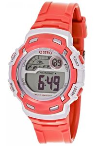 Astro Kids Red Plastic Watch - A8902-PPRS, silver, red/white, red