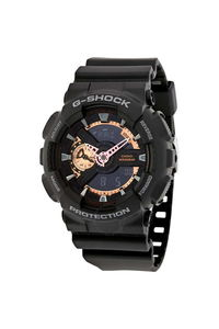 G-shock Men's Resin Band Watch GA-110RG-1A, black/rose gold, black, black