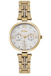 Women's Super Metal Band Watch -LC06667, silver, gold, gold