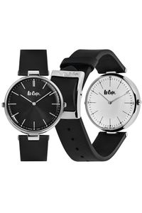 Men's Leather Band Watch -LC06636, brown, black, black / silver