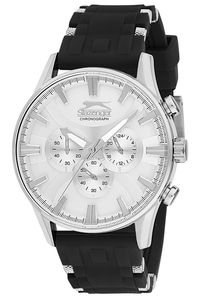 Men's Resin Band Watch - SL. 9.6050, black, silver, silver