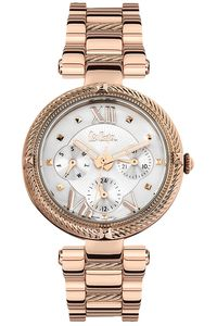Women's Super Metal Band Watch - LC06512, silver, rose gold, rose gold