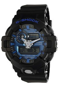 G-shock Men's Resin Band Watch GA-710-1A2, blue, black, black
