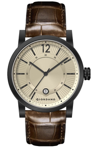 Giordano Men's Watch Analog Display-1834-04, brown, champagne
