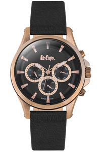 Men's Resin Band Watch -LC06502, black, rose gold, black