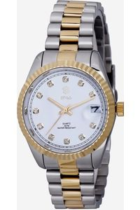 Women's Stainless Steel Band Watch -S7068, white, ip silver/ ip gold, ip silver/ ip gold