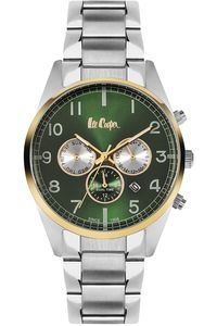 Men's Super Metal Band Watch - LC06313, silver, silver, green