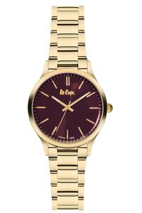 Women's Super Metal Band Watch - LC06300, brown, gold, gold