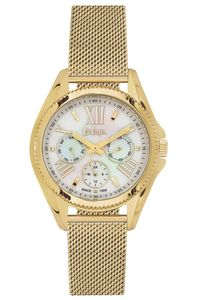 Women 's Super Metal Band Watch - LC06276, white, gold, gold