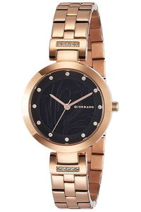 Giordano Women's's Watch Analog Display- 2784-33, rose gold, black