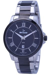 Men's Solid Stainless Steel Band Watch- T7009, tt black, black, tt black
