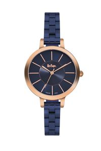 Lee Cooper Women's Super Metal Band Watch LC06175.490, blue, rose gold, blue