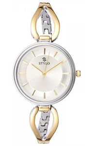 Stylo Women's Stainless Steel Band Watch - S7543-GBGB, two tone gold, black, silver