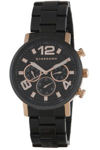 Men's Stainless Steel Band Watch - 1874, black, rose gold, black