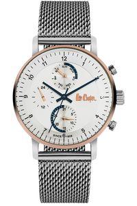 Men's Super Metal Band Watch - LC06495, silver, silver, silver