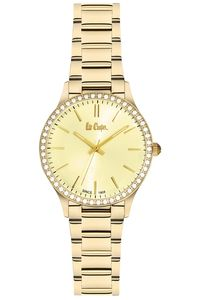 Women's Super Metal Band Watch - LC06303, gold, gold, gold