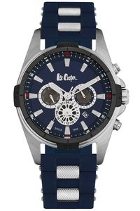 Men's Resin Band Watch -LC06443, blue, silver, blue