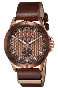 Giordano Men's Watch Chronograph Display- 1765-05, brown, brown
