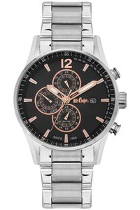 Men's Super Metal Band Watch -LC06420, black, silver, silver