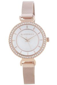 Women's Stainless Steel Band Watch - 2867, rose gold, white, rose gold