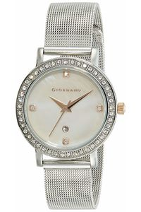 Women's Stainless Steel Band Watch - 2861, silver, mop white, silver