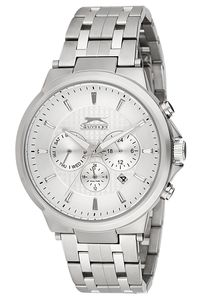 Men's Stainless Steel Band Watch - SL. 9.6066, silver, silver, silver