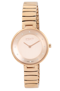 Ecstacy Women's Stainless Steel Band Watch E7519-RBKK, rose gold, rose gold, rose gold