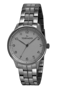 Tornado Men's Watch Analog Display-T8014-SBSW, silver, silver
