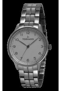 Tornado Men's Watch Analog Display-T8014-SBSW, silver, silver