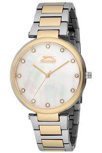 Women's Stainless Steel Band Watch - SL. 9.6083, mop white, gold, tt gold
