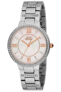 Women's Stainless Steel Band Watch - SL. 9.6087, mop white, silver, silver