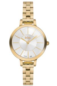 Women's Super Metal Band Watch -LC06175, gold, gold, silver