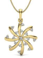 Kasturidiamond. Com 18Kt Yellow Gold Diamond Penda...