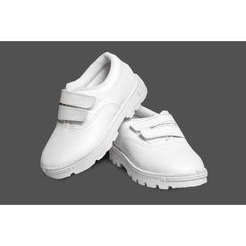 S. Boy White Velcro Synt Shoes, aug-26