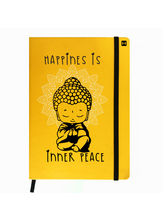 Hamee Premium Leather Hardbound Cover Classic Notebook (Aas-Planner392), yellow