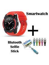 Hamee Sportitech Round IPS Camera Smart Watch Bluetooth Smartwatch (831-sportiselfie)