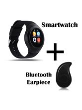 Hamee Chromtech Round Camera Smart Watch Bluetooth Smartwatch (831-chromkaaju)