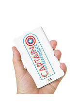 Hamee Marvel Licensed Avengers 8000 mAhPowerBank (Captain America / Badge) (831-Power544), multicolor
