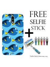 Hamee Disney Pixar Finding Dory Licensed Hard Back Case Cover For Xiaomi Redmi Note 4 Cover with Free Selfie Stick Monopod - Combo 3