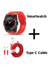 Hamee Sportitech Smartwatch With Sim Free Type C Dash Charging Cable (821-smart019-20)