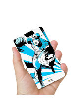 Hamee Marvel Licensed Avengers 10000 mAh PowerBank (Captain America / Blue) (831-Power96), multicolor