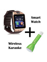 Hamee Wave Smartwatch With Free Karaoke Mic With Bluetooth Speaker And Sound Receiver (821-smart019-52)