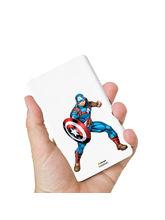 Hamee Marvel Licensed Avengers 8000 mAhPowerBank (Captain America / Pose) (831-Power557), multicolor