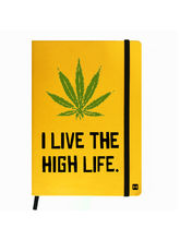 Hamee Leather Hardbound Premium Cover Classic Notebook (Aas-Planner632), yellow